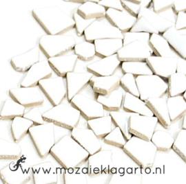 Keramiek Puzzelstukjes per 100 gram Wit 003