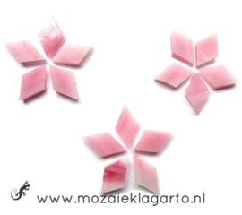 Wybertjes/Ruitjes 10x17 mm per 40 Roze 043-1