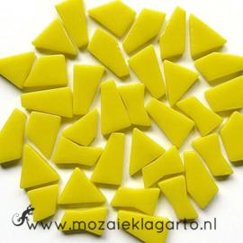 Mozaiek puzzelstukjes Glas 100 gram Geel 030