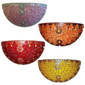 Mozaiekpakket 55 Wandlamp Tiffany 4 kleuren