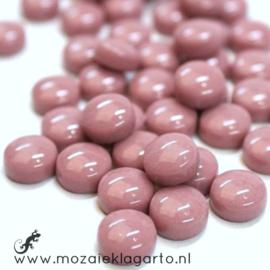Glasdruppel Rond 12 mm per 50 gram Roze 035