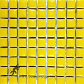 Keramiek tegel 10x10 mm per 81 Citroengeel 071