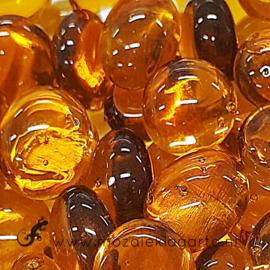 Glas Nugget 17-22 mm Transparant 50 gram Amber 4404