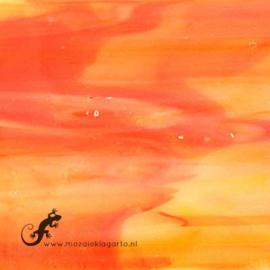 Glasplaat 19 x 20 cm Oranje/Geel Translucent CAG071tl