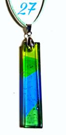 Handgemaakte glashanger Lime/Groen/Turquoise