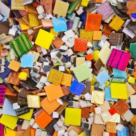 Mozaiek tegeltjes Vierkante mix 500 gram Bonte Mix
