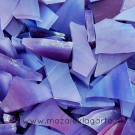 Gekleurde glasscherven Semi Translucent Paarsblauw - Roze CAG033st