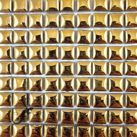 Keramiek tegel 10x10 mm per 81 Goud 1002
