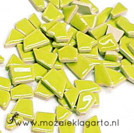 Keramiek Puzzelstukjes per 100 gram Lichtgroen 013