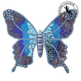 Mozaiekpakket 31 Vlinder Lucente Blauw