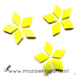 Wybertjes/Ruitjes 10x17 mm per 40 Citroengeel Iriserend 016-1