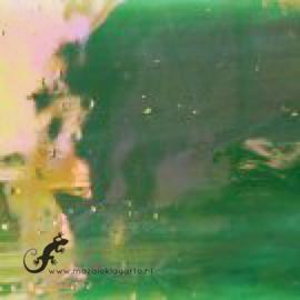 Glasplaat 19 x 20 cm Groen Iriserend CAG119i