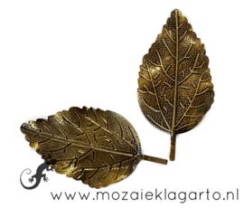 Bloemblad metaal bronskleur 5.5 x 3 cm per 2