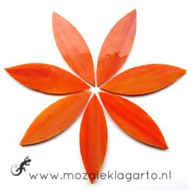 Bloemblaadjes Tiffanyglas 16x50x3 mm per 7 Oranje/Geel 071-2