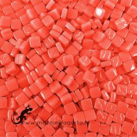 Mozaïek tegeltjes glas 8 x 8 mm Opaal per 50 gram Oranjerood 106