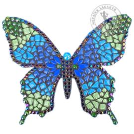 Mozaiekpakket 53 Vlinder Farfalla Blauw/Aqua/Groen