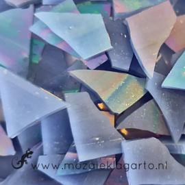 Gekleurde glasscherven Iriserend Paarsblauw CAG124i