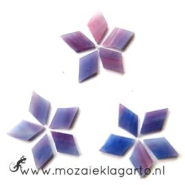 Wybertjes/Ruitjes 10x17 mm per 40 Paars/Roze 033-1