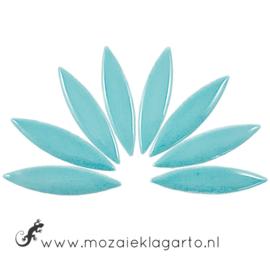 Keramiek bloemblaadjes Groot per 8 Licht Aqua 171