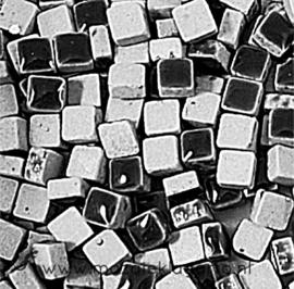 Mini Keramiek tegeltjes 5x5 mm per 15 gram Zwart 001