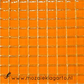 Glastegeltje Murrini Oranje per 81 tegeltjes 042