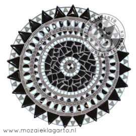 Mozaiekpakket 18 Schaal Bistro Zwart/Wit/Grijs