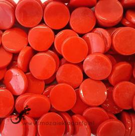Glastegel Rond 18 mm per 50 gram Rood 107