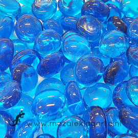Glas Nugget Mini 9-13 mm Transparant 50 gram Aqua 4394