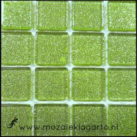 Glitter 2x2 cm per 16 tegels Lichtgroen 043