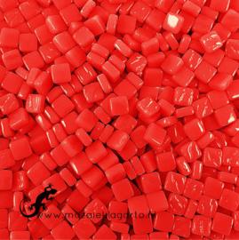 Mozaïek tegeltjes glas 8 x 8 mm Opaal per 50 gram Rood 107