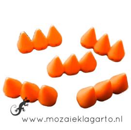 Decoratiesteen kunststof  15x28 mm per 5 Oranje 12331