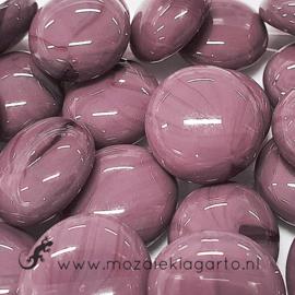 Glas Nugget 17-22 mm Opaal 50 gram Paars 4459