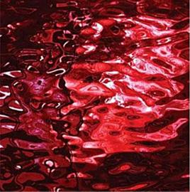 Spiegel gekleurd 15x15 cm Rood 009