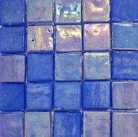 Glastegels 15 mm  Blauw Opaal per 25 tegels 121-15