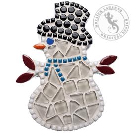 Mozaiekpakket 8 magneet Sneeuwpop