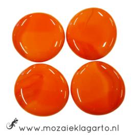 Glas Nugget 30-38 mm per 4 Opaal Oranje 4518