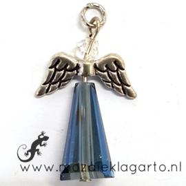 Hanger Engel Glas/Metaal Blauw 5 0 x 21 mm