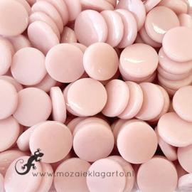 Glastegel Rond 18 mm per 50 gram Roze 017