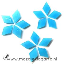 Wybertjes/Ruitjes 10x17 mm per 40 Aqua 061-1