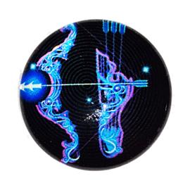 Cabochon/Plaksteen Glas 25 mm Horoscoop Boogschutter 1111