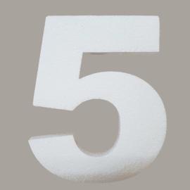 Ondergrond mozaïek Styropor Cijfer 5