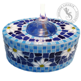 Mozaiekpakket 63 Olielamp Fiore Blauw