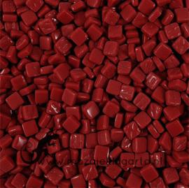 Mozaïek tegeltjes glas 8 x 8 mm Opaal per 50 gram Bordeaux 098