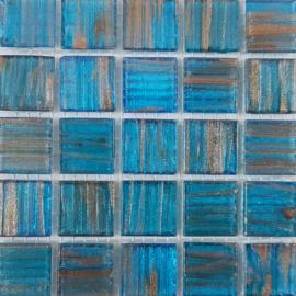 Goudader glastegels Aqua per 25 tegels 062