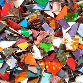 Gekleurde glasscherven 150 gram Bonte Spiegel Mix 300