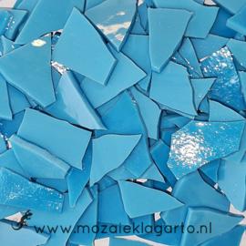 Gekleurde glasscherven Opaal Aqua/Blauw Opaal W96-14o