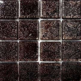 Folie glas per 16 tegels Bruin/Zwart 1010