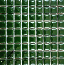 Keramiek tegel 10x10 mm per 81 Donkergroen 014