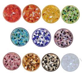 Mozaiekpakket 16 Onderzetter 18 cm 11 kleuren