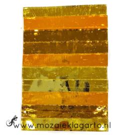 Tiffany Spiegelglas reepjes 1x6.5 cm per 10 Geel 004